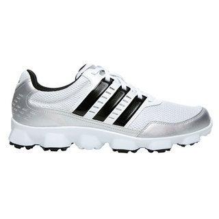 Adidas Mens Crossflex Sport White/ Black Spikeless Golf Shoes