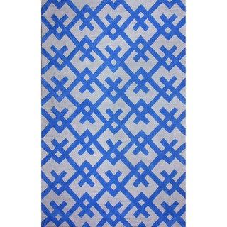 nuLOOM Hand-tufted Modern Indoor/ Outdoor Blue Rug (8'6 x 11'6)
