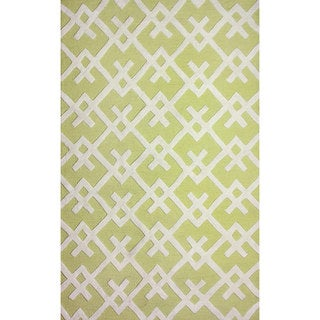 nuLOOM Hand-tufted Modern Indoor/ Outdoor Yellow Rug (8'6 x 11'6)