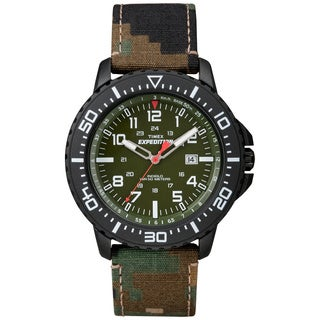 Timex Men's 'Expedition Uplander' Green Camo Strap Watch