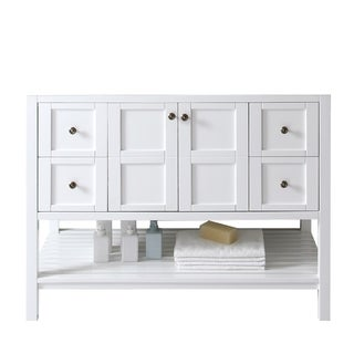 Virtu USA Winterfell 48-inch White Single-sink Cabinet Only Bathroom Vanity