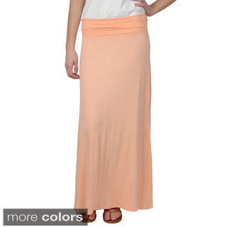 Hailey Jeans Co. Junior's Banded Solid Color Maxi Skirt