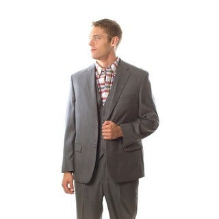 Caravelli Italy Men's 'Superior 150' Grey Shark Pattern Vested Suit