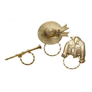 Detti Originals SPEC Bonnet/ Jacket and Clarinet 3-piece Spectacle Brooch Set