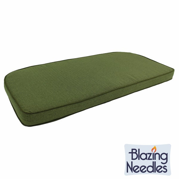 Blazing Needles Green Corded U Shaped Indoor Settee Bench Cushion Overstock Shopping Great