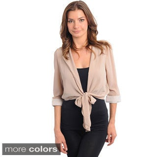 Shop The Trends Women's Lightweight Tie-front Sash Jacket