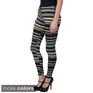 Journee Collection Junior's Soft Pattern Leggings