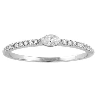 Beverly Hills Charm 14k White Gold 1/5ct. Diamond Stackable Band Ring (H-I, SI2-I1)