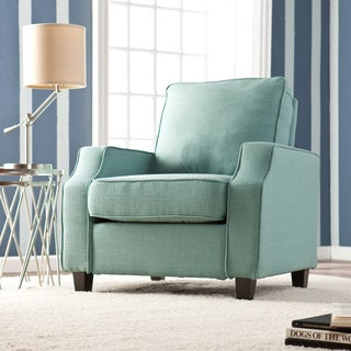 Upton Home 'Corey' Turquoise Upholstered Arm Chair