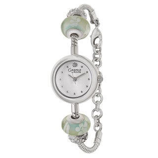 Caravelle by Bulova Women's Stainless Steel Glass Bead Japanese Quartz Watch