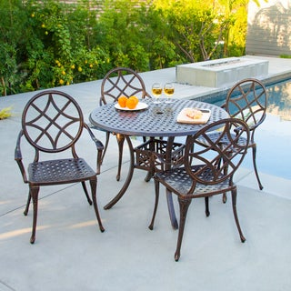 Christopher Knight Home Oviedo 5-piece Cast Aluminum Copper Outdoor Dining Set