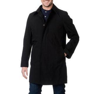 Nautica Men's Black Raincoat with Vest