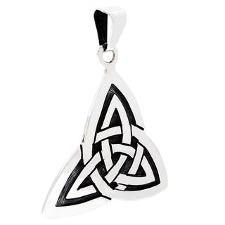 .925 Sterling Silver Irish Love Knot Pendant