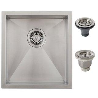 Ticor 16-inch Stainless Steel Single Bowl Undermount Bar Sink