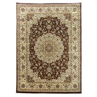 Tiffany Brown/ Camel Oriental Area Rug (5' x 7')