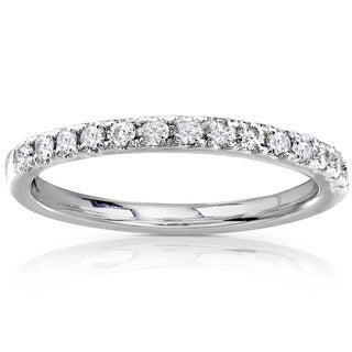 Annello 14k Gold 1/3ct TDW Round Diamond Wedding Band (G-H, I1-I2)