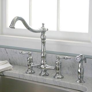 Charelstown Bridge-Style 2-Handle Chrome Kitchen Faucet
