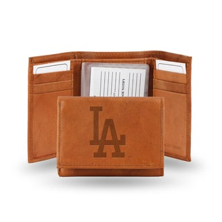 MLB Los Angeles Dodgers Leather Embossed Tri-fold Wallet