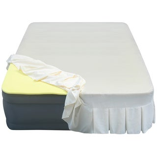 Altimair 20-inch Queen-size Airbed with 1-inch Memory Foam Topper and Skirted Sheet Cover
