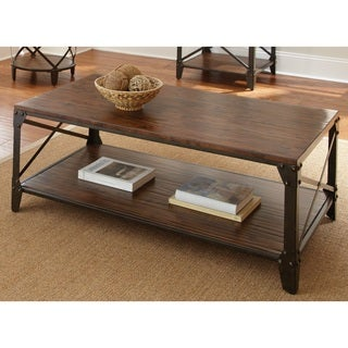 Windham Solid Birch/ Iron Coffee Table