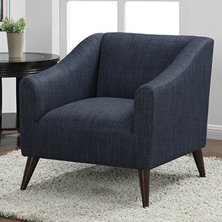 Quincy Blue Linen Upholstered Arm Chair