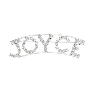 Detti Originals SilverPind 'JOYCE' Crystal Name Pin
