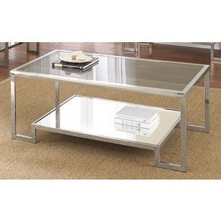 Cordele Chrome and Glass Coffee Table