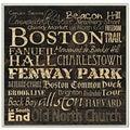 Carole Stevens 'Boston Landmarks' Square Typography Wall Plaque