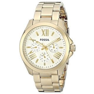 Fossil Women's AM4510 'Cecile' Goldtone Stainless Steel Watch