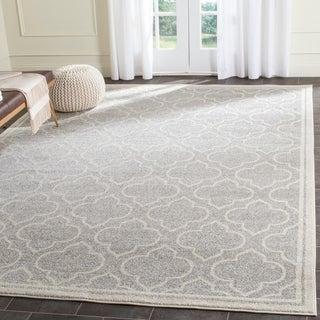 Safavieh Amherst Indoor/ Outdoor Light Grey/ Ivory Rug (8' x 10')