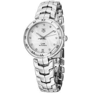 Tag Heuer Women's 'Link' Silver Dial Stainless Steel Automatic Watch WAT2311.BA0956