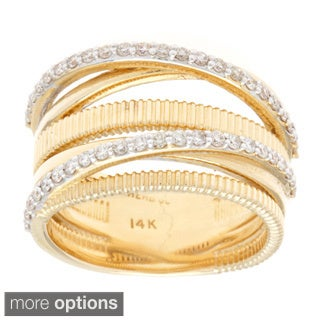 14k Gold 1/2ct TDW Multi-row Diamond Ring (G-H, SI1-SI2)