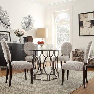 INSPIRE Q Concord 5-piece Black Nickel Plated Grey Bracket Dining Set