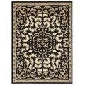 Alliyah Handmade Black New Zealand Blend Wool Rug  (9 'x 12')