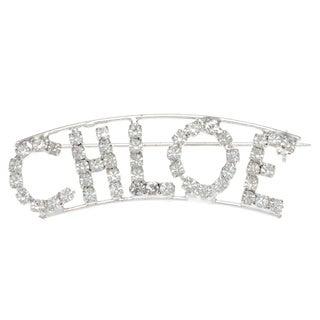 Detti Originals Silverplated 'CHLOE' Crystal Name Pin