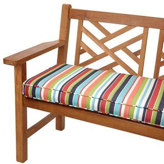 Multicolor Stripe Indoor/ Outdoor 48-inch Bench Cushion with Sunbrella Fabric