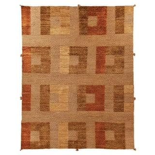 Safavieh Hand-knotted Santa Fe Dark Beige Wool Rug (9' x 12')