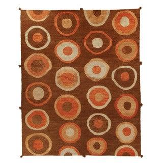 Safavieh Hand-knotted Santa Fe Chocolate/ Chocolate Wool Rug (9' x 12')