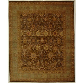 Safavieh Hand-knotted Lavar Brown/ Light Blue Wool Rug (6' x 9')