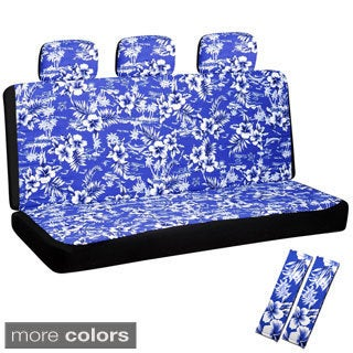 Oxgord Hawaiian Flower 60/40 Split Bench 8-piece Seat Cover Set