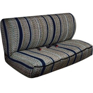 Saddle Back Striped Universal 2-piece Bench Seat Cover Set