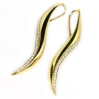 Sonia Bitton 18k Yellow Gold 1 1/8ct TDW Designer Diamond Earrings