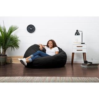 Fufsack 4 Foot Large Memory Foam Microfiber Bean Bag Chair