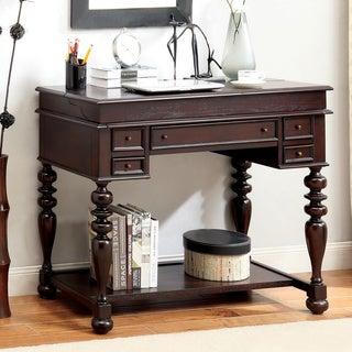 Furniture of America Litchum Multi-storage Pull-out Tray Secretary Desk