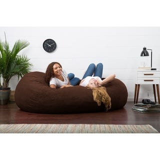 FufSack Memory Foam Microfiber 7-foot XXL Bean Bag Chair