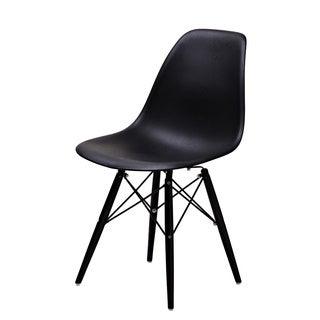 Lucas Black Wood Grain Chairs (Set of 2)