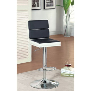 Furniture of America Geelzi Leatherette Adjustable Barstool
