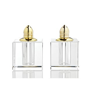 Vitrality Goldtone Salt and Pepper Shakers (Set of 2)