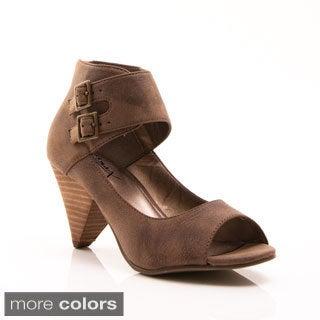 Gomax Women's 'Ola 25' Double Ankle Strap Peep-Toe Pumps