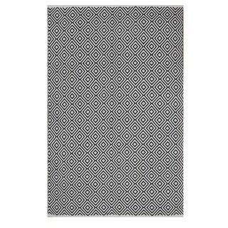 Indo Hand-woven Veria Black/ White Contemporary Geometric Area Rug (4' x 6')
